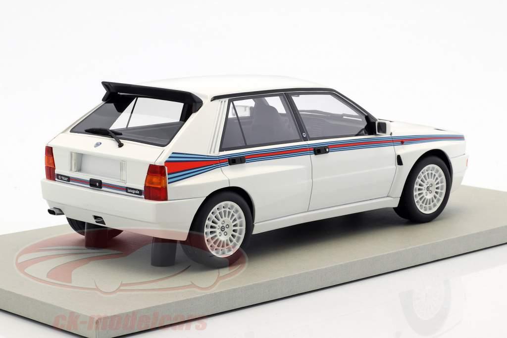 Lancia Delta Integrale Evolution II Martini 5 anno di costruzione 1993 bianco 1:18 LS Collectibles