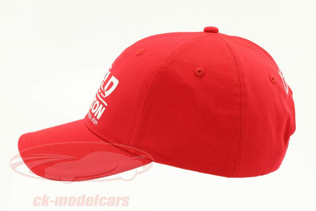 Michael Schumacher chapeau World Champion rouge