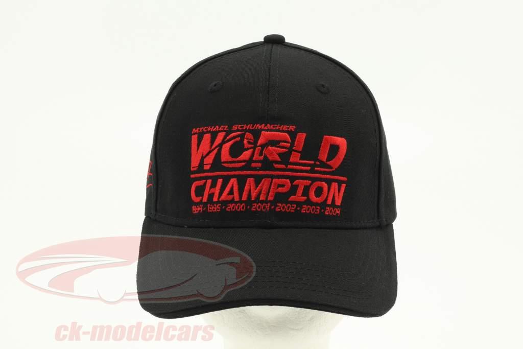 Michael Schumacher Cap World Champion schwarz