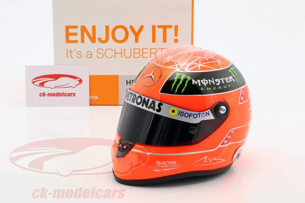 Michael Schumacher Mercedes GP formula 1 2012 helmet 1:2 Schuberth