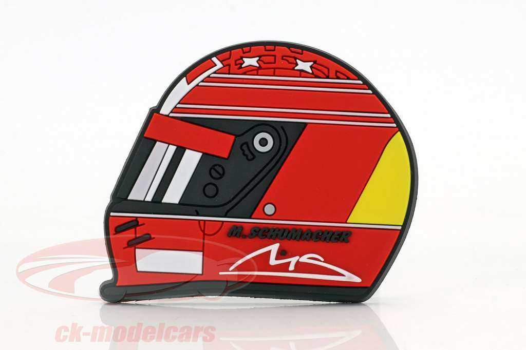 Michael Schumacher frigo aimant casque 2000 rouge