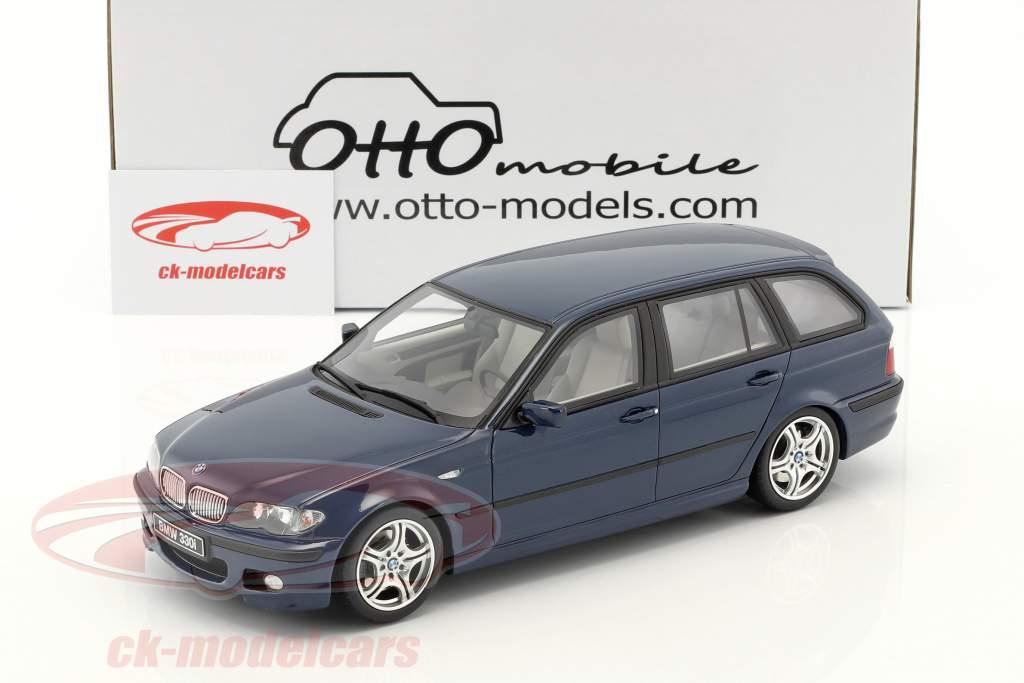 BMW 330i (E46) Touring M Pack anno di costruzione 2005 mistico blu 1:18 OttOmobile