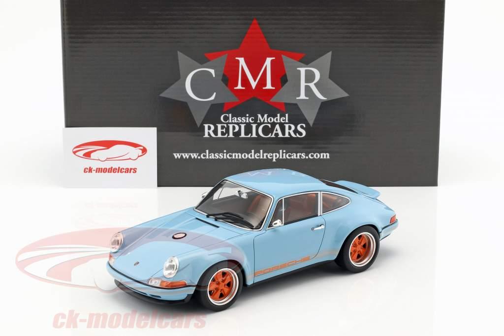 Singer Coupé Dubai modification of a Porsche 911 gulf blau / orange 1:18 CMR