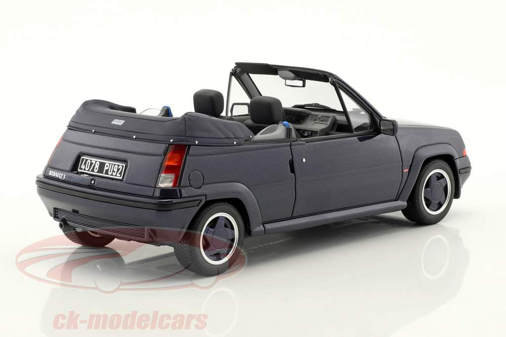 Renault 5 GT Turbo Cabriolet by EBS year 1990 blue 1:18 OttOmobile
