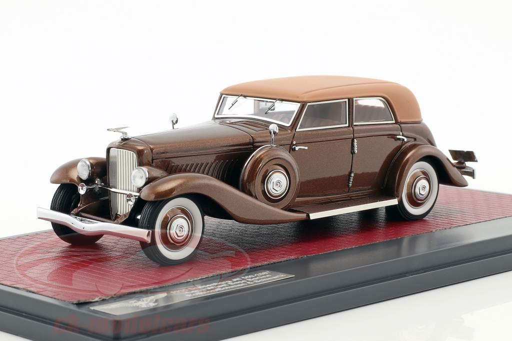 Duesenberg JN 559-2587 Sedan LWB Rollston année de construction 1935 brun 1:43 Matrix