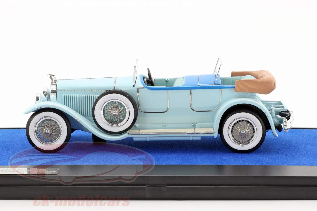 Hispano Suiza H6B Million-Guiet Dual-Cowl Phaeton year 1924 light blue 1:43 Matrix