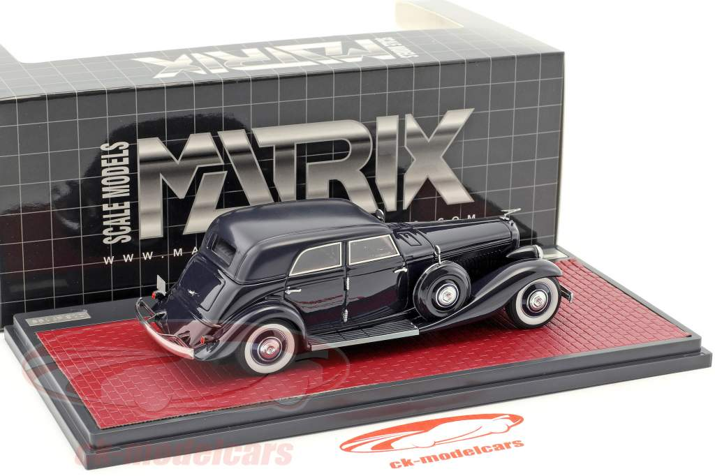 Duesenberg JN 559-2587 Sedan LWB Rollston year 1935 dark blue 1:43 Matrix