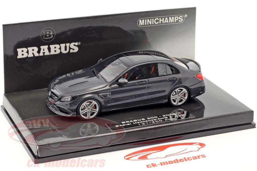 Brabus 600 based on Mercedes-Benz AMG C 63 S year 2015 black 1:43 Minichamps