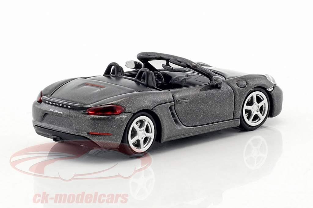 Porsche 718 Boxster year 2016 grey metallic 1:87 Minichamps