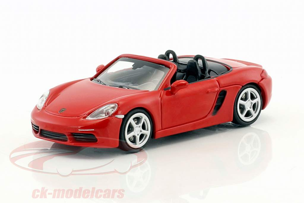 Porsche 718 Boxster year 2016 red 1:87 Minichamps