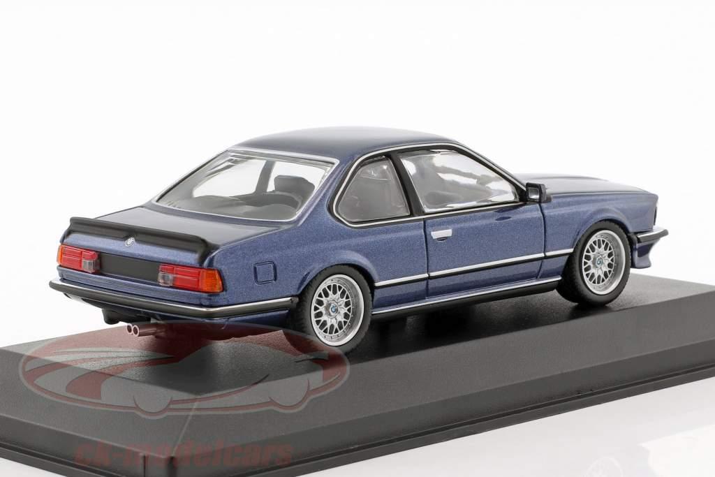 BMW 635 CSi year 1982 blue metallic 1:43 Minichamps