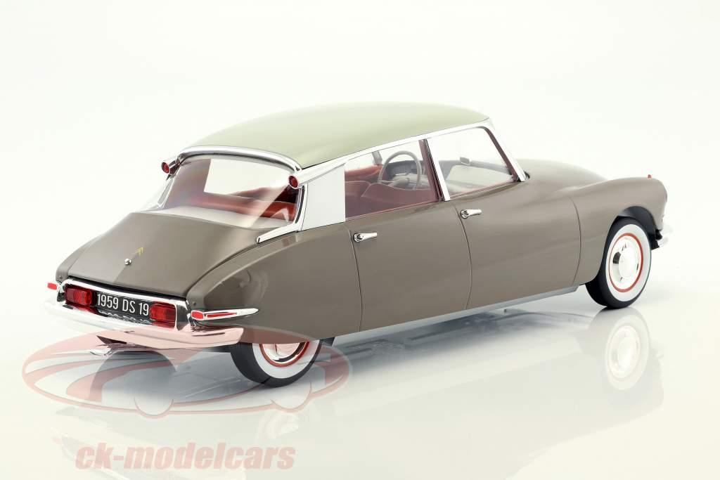 Citroen DS 19 année de construction 1959 brun / blanc 1:12 Norev