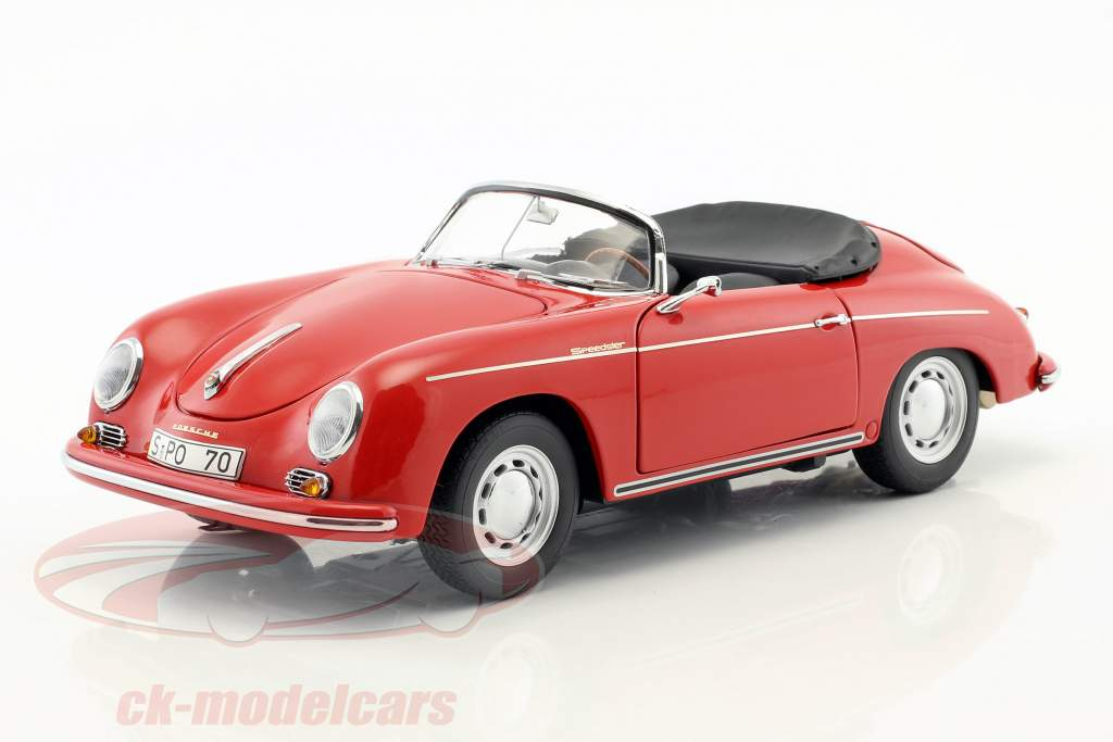 Porsche 356 A Carrera Speedster 70 years Porsche red / black 1:18 Schuco