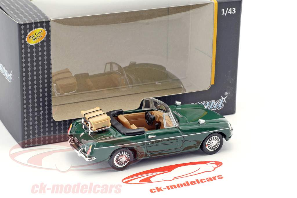 MGB Convertible Open Top green 1:43 Cararama