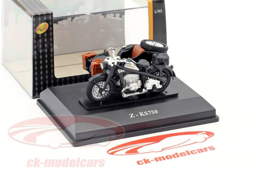 Zündapp Z-KS750 noir 1:43 Cararama