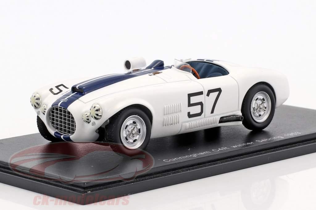 Cunningham C4-R #57 Winner 12h Sebring 1953 Walters, Fitch 1:43 Spark