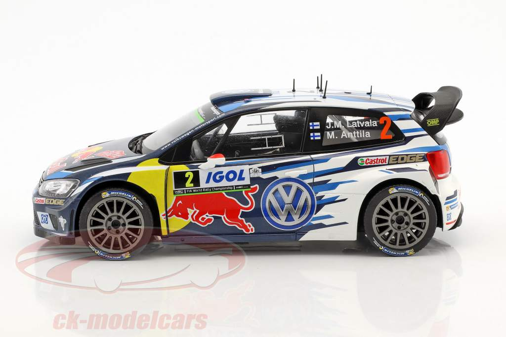 Volkswagen VW Polo R WRC  #2 4th Tour de Corse 2016 Latvala, Anttila 1:18 Ixo