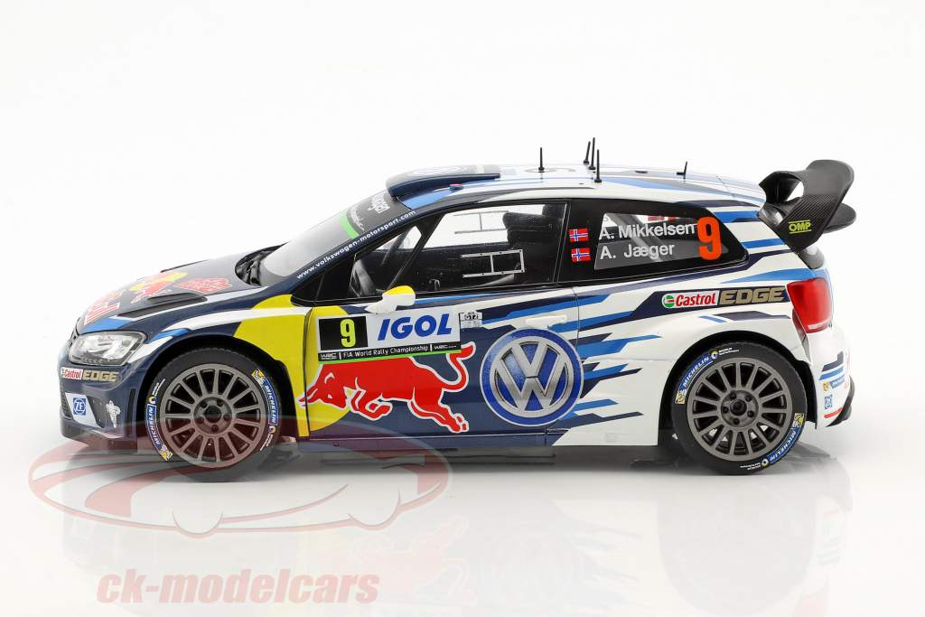Volkswagen VW Polo R WRC #9 3 Tour de Corse 2016 Mikkelsen, Jaeger 1:18 Ixo