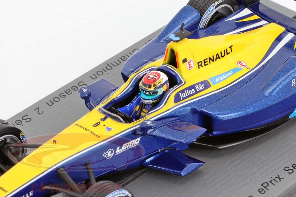 Sebastien Buemi RENAULT Z.E.15 #9 Weltmeister Formel E 2015/16 1:43 Spark