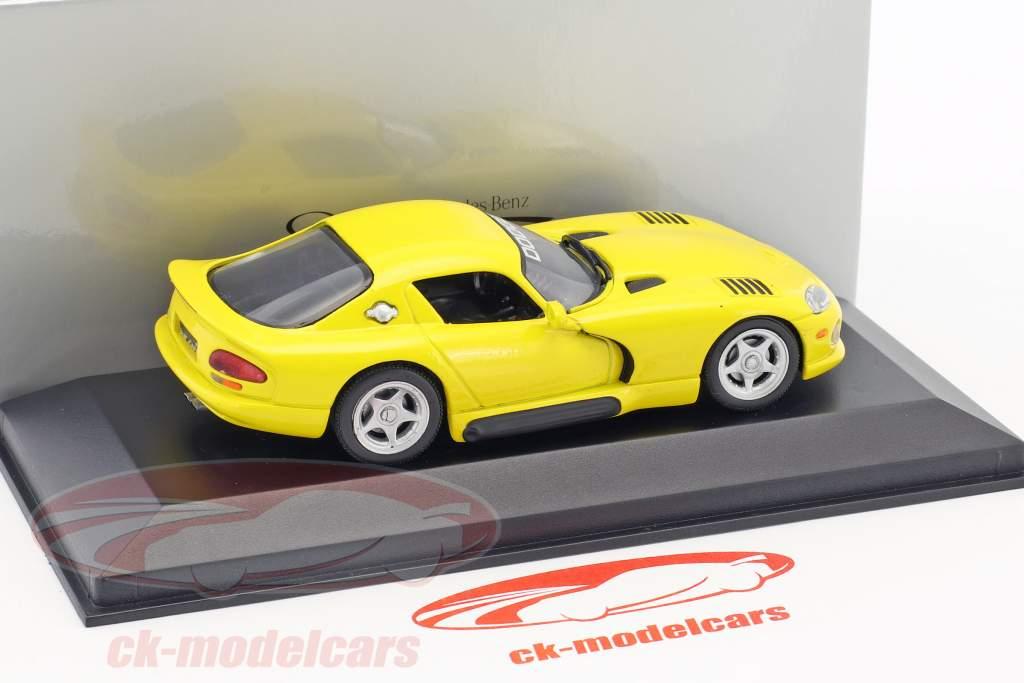 Dodge Viper Coupe yellow 1:43 Minichamps