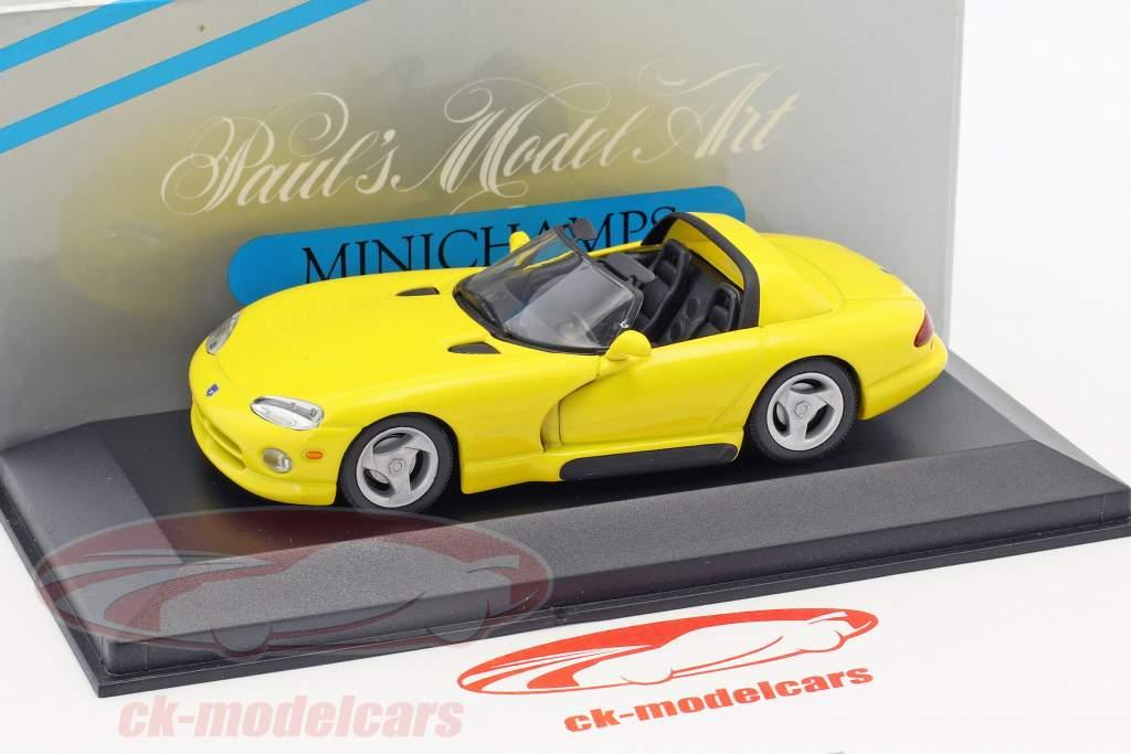 Dodge Viper Cabriolet giallo 1:43 Minichamps