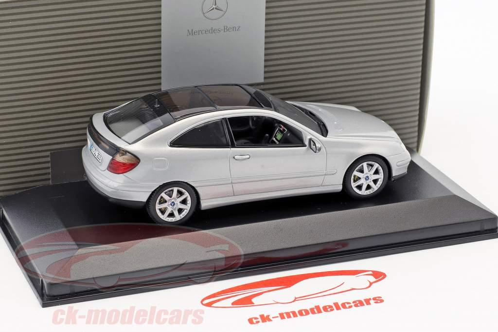 Mercedes-Benz C-Klasse Sport Coupe Bundespresseball 2001 argento 1:43 Minichamps