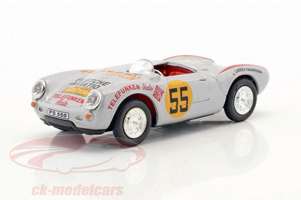 Porsche 550A Spyder #55 3rd Carrera Panamericana 1954 Hans Herrmann 1:43 Cararama