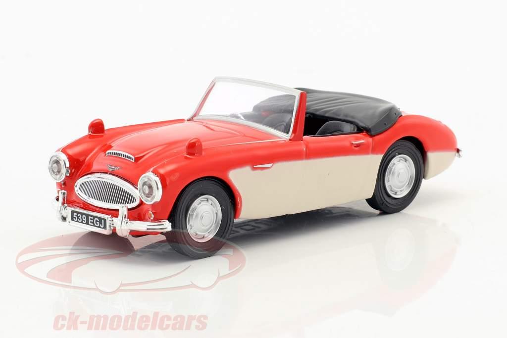 Austin Healey Convertible Open Top red / cream white 1:43 Cararama