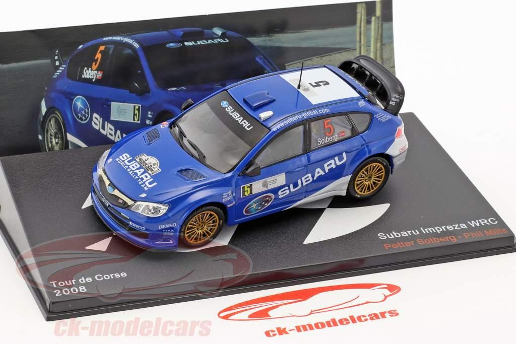 Subaru Impreza WRC #5 5th Tour de Corse 2008 Solberg, Mills 1:43 Ixo Altaya