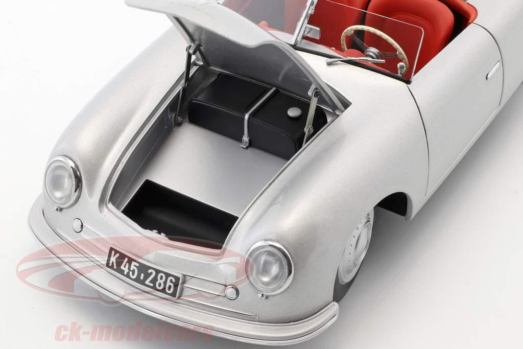 Porsche 356 Nr.1 anno di costruzione 1948 edizione 70 anni Porsche argento 1:18 AUTOart