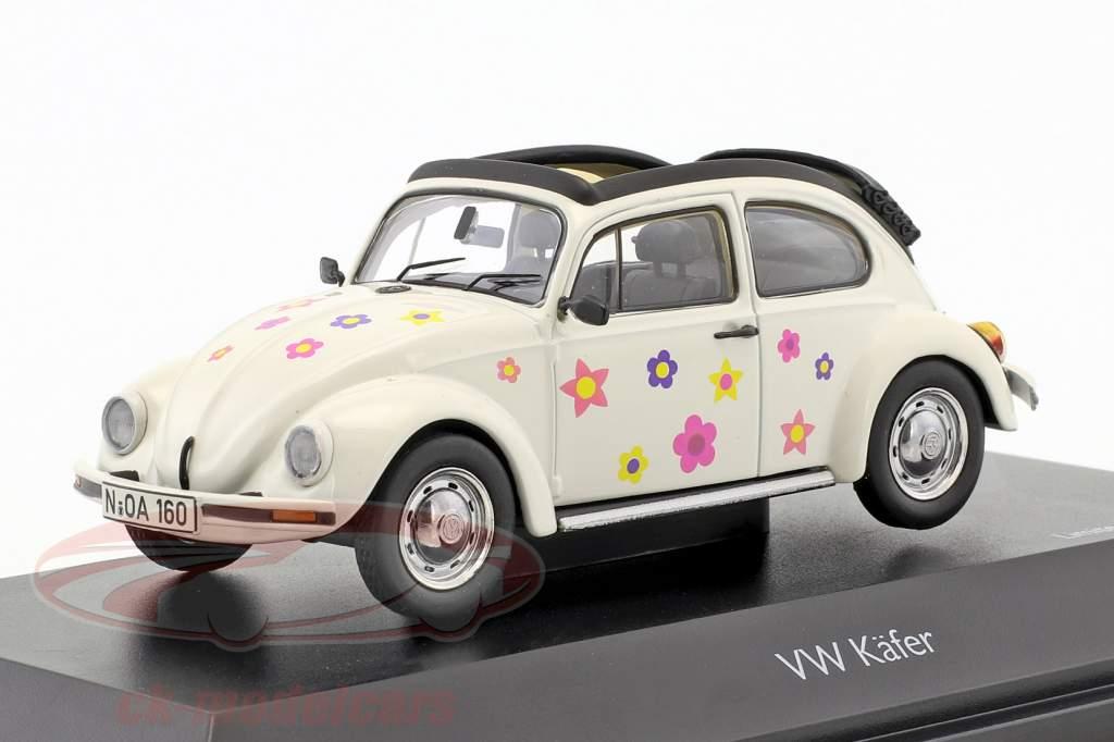 Volkswagen VW Beetle Open Air Flower Decor white 1:43 Schuco