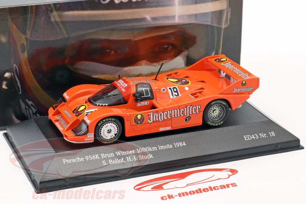 Porsche 956 B Jägermeister #19 vincitore 1000km Imola 1984 Stuck, Bellof 1:43 CMR
