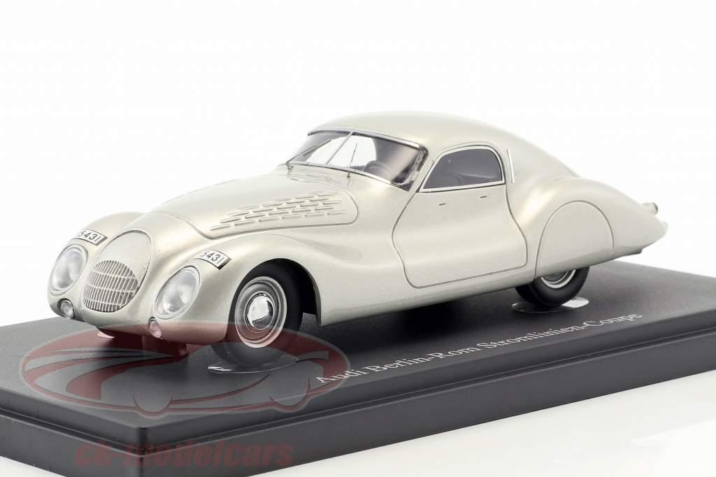Audi Berlin-Rom Stromlinien-Coupe Baujahr 1938 silber 1:43 AutoCult
