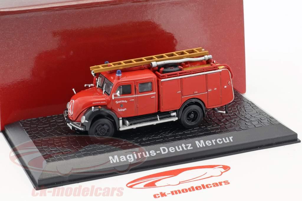 Magirus Deutz Mercur fire Department Solingen red 1:72 Atlas
