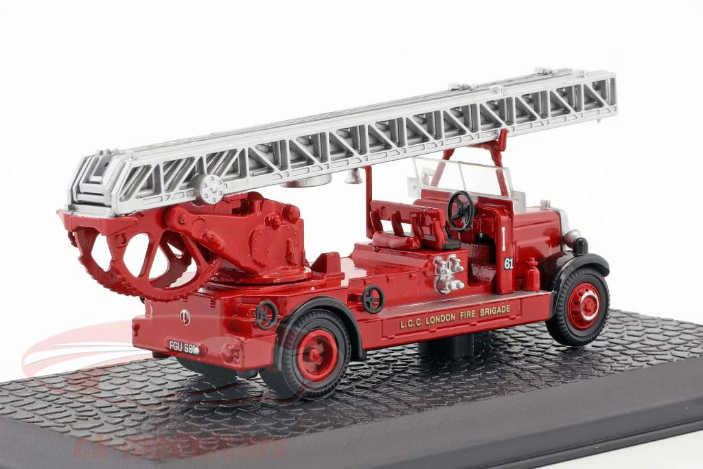 Leyland TLM fire Department London year 1935 red 1:72 Atlas