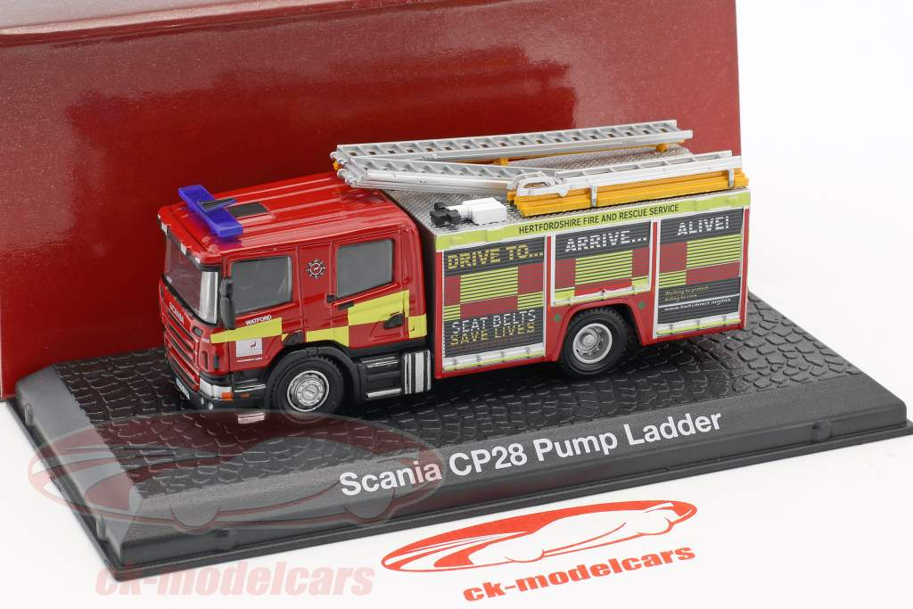 Scania CP28 fire Department with pump ladder red / yellow 1:72 Atlas