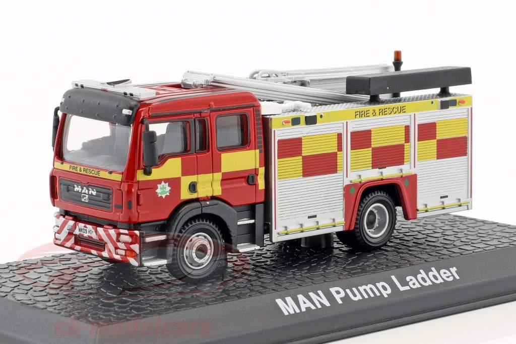 MAN TGL WRL with pump ladder fire Department red / yellow 1:72 Atlas