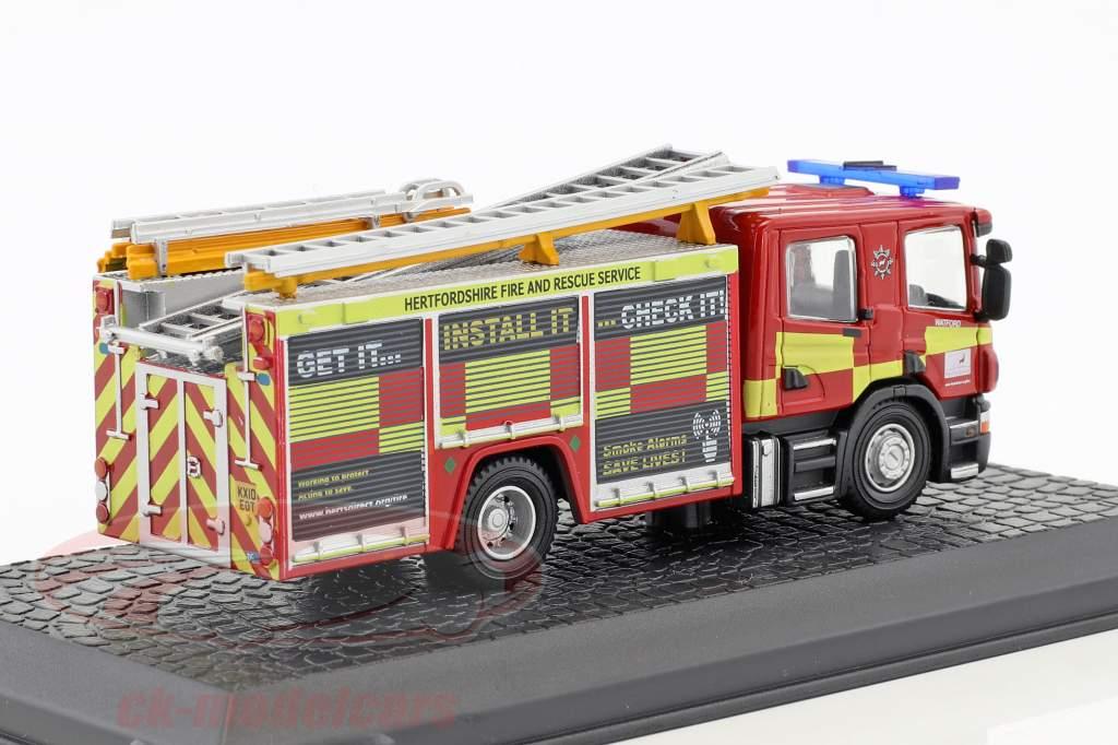 Scania CP28 Feuerwehr mit Pumpenleiter rot / gelb 1:72 Atlas
