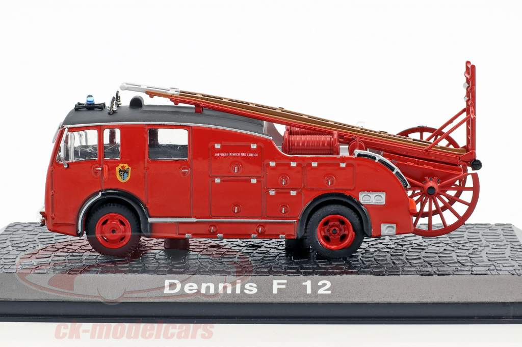 Dennis F 12 fire Department year 1946 red 1:72 Atlas