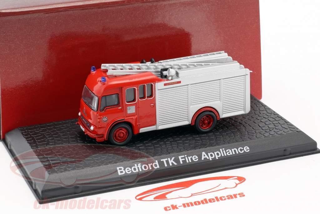 Bedford TK Fire Appliance fire Department year 1980 red 1:72 Atlas