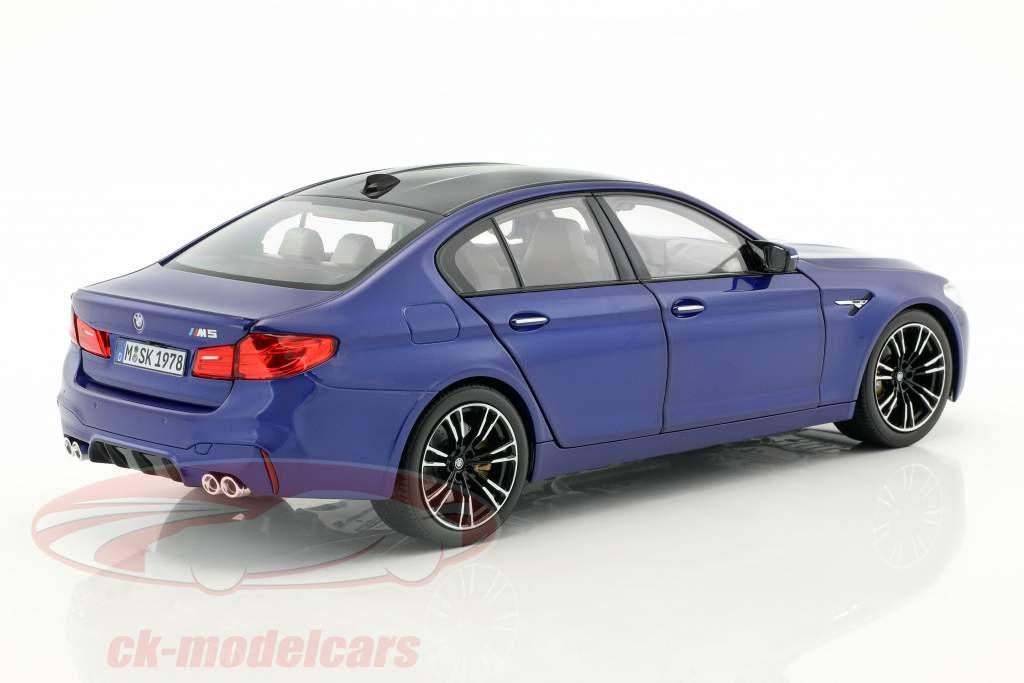 BMW M5 Limousine (F90) marina bay blau 1:18 Norev