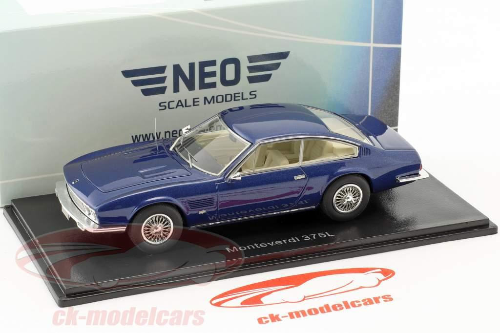 Monteverdi 375 L anno di costruzione 1969 blu metallico 1:43 Neo