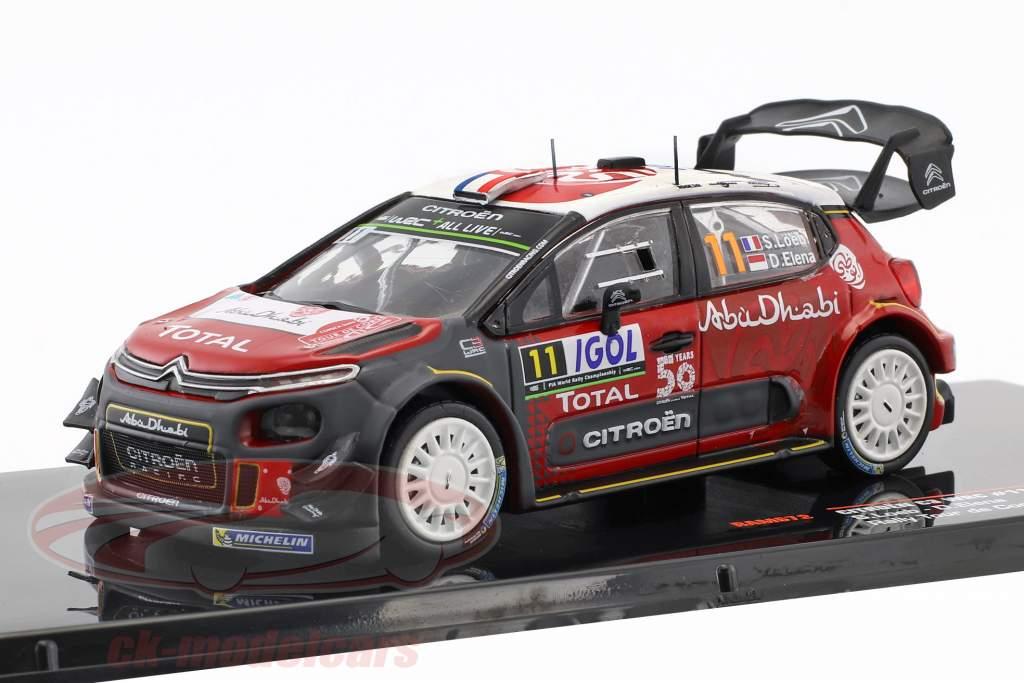 Citroen C3 WRC #11 Tour de Corse 2018 Loeb, Elena 1:43 Ixo