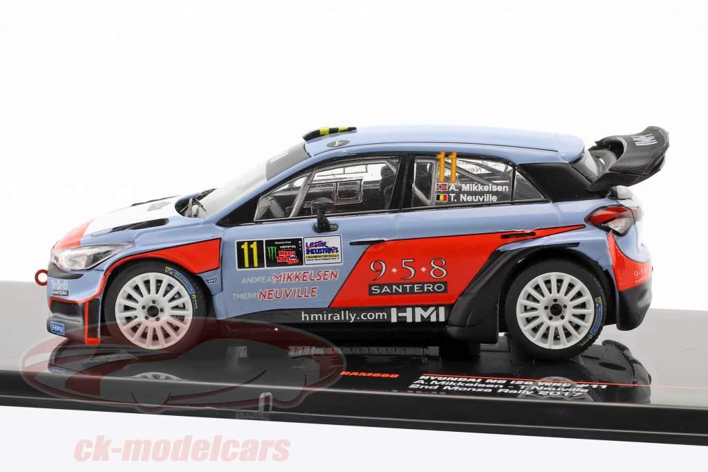 Hyundai NG i20 WRC #11 2 ° Monza Rallye Show 2017 Mikkelsen, Neuville 1:43 Ixo
