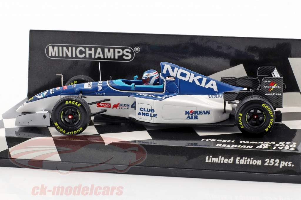 Mika Salo Tyrrell 023 #4 8 ° belga GP formula 1 1995 1:43 Minichamps