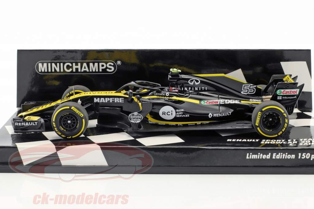 Carlos Sainz jr. Renault R.S.18 #55 Showcar formule 1 2018 1:43 Minichamps