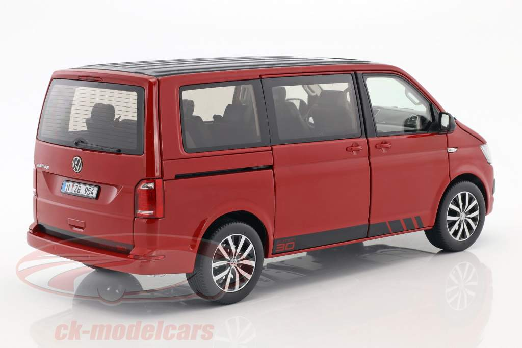Volkswagen VW T6 Multivan édition 30 rouge 1:18 NZG