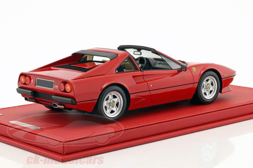 Ferrari 208 GTS Turbo year 1983 corsa red with showcase 1:18 BBR