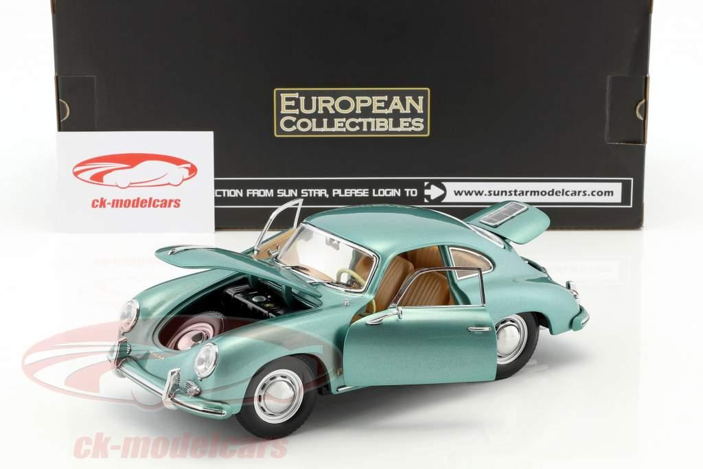 Porsche 356 A 1500 GS Carrera GT année de construction 1957 vert métallique 1:18 Sun Star