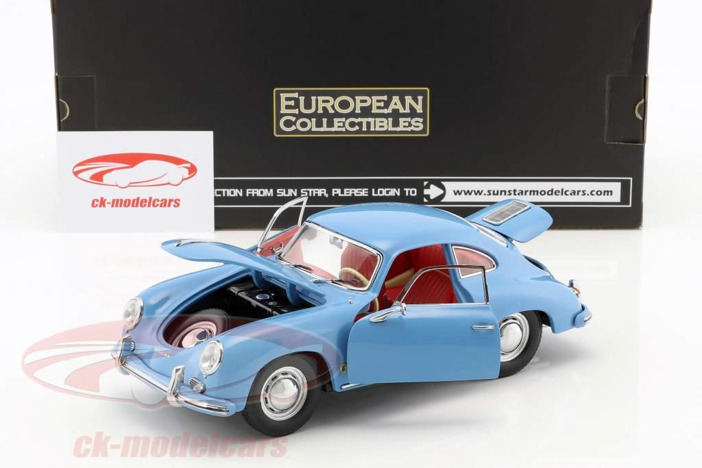 Porsche 356 A 1500 GS Carrera GT year 1957 blue 1:18 Sun Star